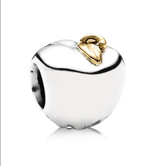 Pandora Stirling Silver Two tone Apple Charm